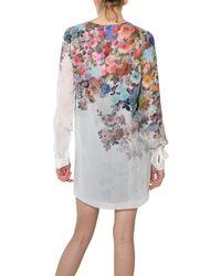 Jonathan Saunders - Multicolor Floral Chiffon Blouse - Lyst