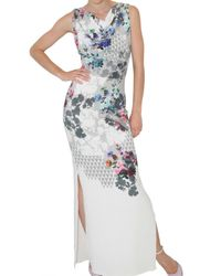 Jonathan Saunders | Multicolor Celyn Floral-print Stretch-silk Gown | Lyst