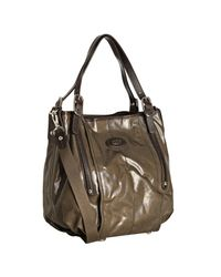 Tod's | Brown Coated Twill G-bag Easy Grande Tote Bag | Lyst
