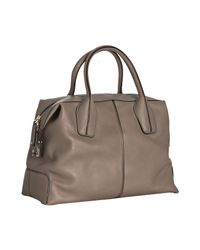 Tod's | Brown Taupe Leather Welted Tote Bag | Lyst