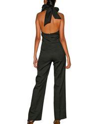 Saint Laurent - Black Reinforced Bias Cut Jumpsuit - Lyst
