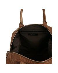 Saint Laurent   Calf Brown Lambskin Leather Sac 57 Satchel   Lyst