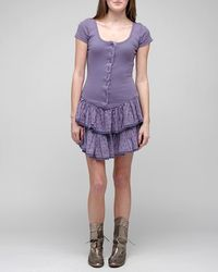 Betsey Johnson - Purple Mini Rosebud Print Dress - Lyst