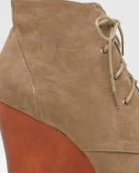 Jeffrey Campbell | Natural Two Timer Lace-u Wedge | Lyst