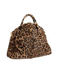 Prada | Multicolor Sand Leopard Print ? Bauletto Bowling Bag | Lyst