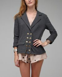 Tulle | Gray Military Blazer | Lyst