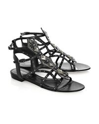 Emilio Pucci - Black Studded Gladiator Sandals - Lyst