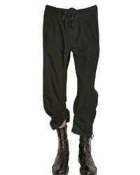 Ann Demeulemeester | Black Double Length Gabardine Trousers for Men | Lyst