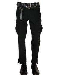 Ann Demeulemeester | Black Fustian Cargo Trousers for Men | Lyst