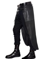 Ann Demeulemeester | Black Panels Leather Skirt for Men | Lyst