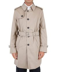 Aquascutum | Natural Gabardine Trench Coat for Men | Lyst