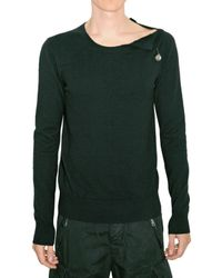 Balmain | Black Eagle Metal Plaquet Wool Knit Sweater for Men | Lyst