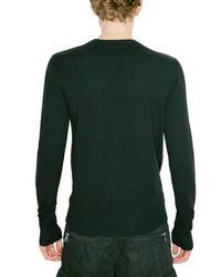 Balmain - Black Eagle Metal Plaquet Wool Knit Sweater for Men - Lyst