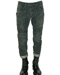 Balmain | Black Regular Fit Biker Jeans for Men | Lyst