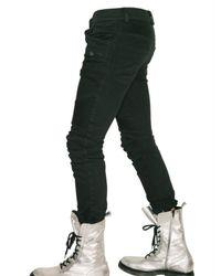 Balmain | Black Slim Fit Cropped Biker Jeans for Men | Lyst