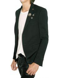 Balmain - Black Stretch Wool Metal Pin Jacket for Men - Lyst