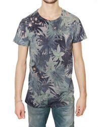 Balmain | Blue Palm Tree Jersey T-shirt for Men | Lyst