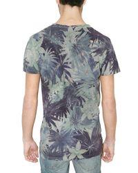 Balmain - Blue Palm Tree Jersey T-shirt for Men - Lyst