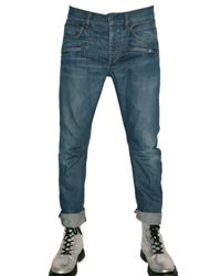 Balmain | Blue Slim Fit Cropped Denim Selvage Jeans for Men | Lyst