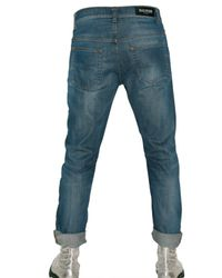 Balmain - Blue Slim Fit Cropped Denim Selvage Jeans for Men - Lyst