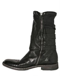BB Bruno Bordese - Black Triple Belt Buffalo Boots for Men - Lyst