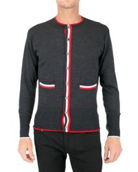 Black Fleece By Brooks Brothers | Gray Plaquet Striped Cardigan Sweater for Men | Lyst