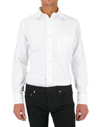 Black Fleece By Brooks Brothers - White Tab Collar Oxford Shirt for Men - Lyst