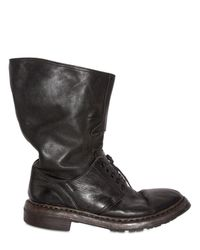 Burberry Prorsum | Black Military Wide Boots for Men | Lyst