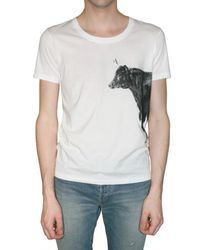 Burberry Prorsum | White Big Cow Print Jersey T-shirt for Men | Lyst