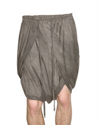Damir Doma | Natural Cotton Voile Wrap Shorts for Men | Lyst