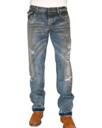 Dolce & Gabbana | Blue 22 Cm Hem Leader Stud Denim Jeans for Men | Lyst