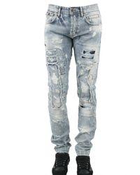 Dolce & Gabbana | Blue Destroyed Paint Jeans for Men | Lyst