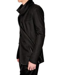 Dior Homme - Black Asymetric Scarfed Jersey Jacket for Men - Lyst