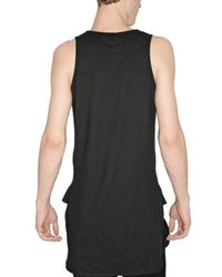 Dior Homme - Black Cotton Jersey Long Tank Top for Men - Lyst
