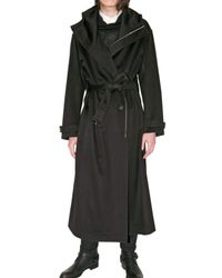 Dior Homme | Black Hooded Cashmere Toile Coat for Men | Lyst
