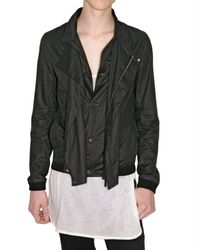 Dior Homme | Black Parachute Cotton Jacket for Men | Lyst