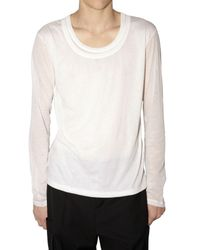 Dior Homme - White Jersey Front Double Layer Long T-shirt for Men - Lyst
