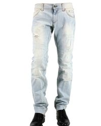 Dolce & Gabbana | Blue 19 Cm Hem Distressed Denim Jeans for Men | Lyst