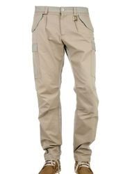 Dolce & Gabbana | Natural Cargo with Logo Trousers for Men | Lyst