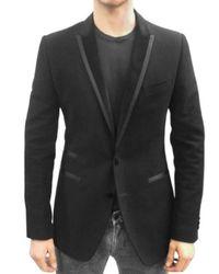 Dolce & Gabbana - Black Moleskine Tuxedo Jacket for Men - Lyst