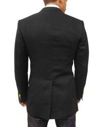 Dolce & Gabbana - Black Two Gold Button Linen Martini Jacket for Men - Lyst