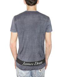 Dolce & Gabbana - Blue James Dean Silk Jersey T-shirt for Men - Lyst