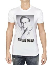 Dolce & Gabbana | White Marlon Brando Jersey T-shirt for Men | Lyst