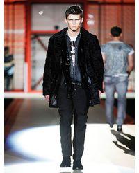 DSquared² | Black Astrakhan Coat for Men | Lyst