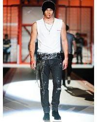 DSquared² - Black Chain Super Slim Denim Jeans for Men - Lyst