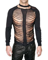 DSquared² | Black Destroyed Knit Sweater for Men | Lyst