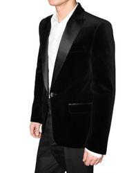 DSquared² - Black Satin Revere Velvet Jacket for Men - Lyst