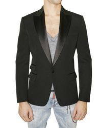 DSquared² | Black One-button Tuxedo Blazer for Men | Lyst