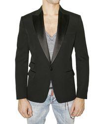 DSquared² - Black One-button Tuxedo Blazer for Men - Lyst
