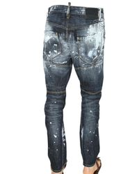 DSquared² | Blue 18cm Biker Painter Denim Jeans for Men | Lyst